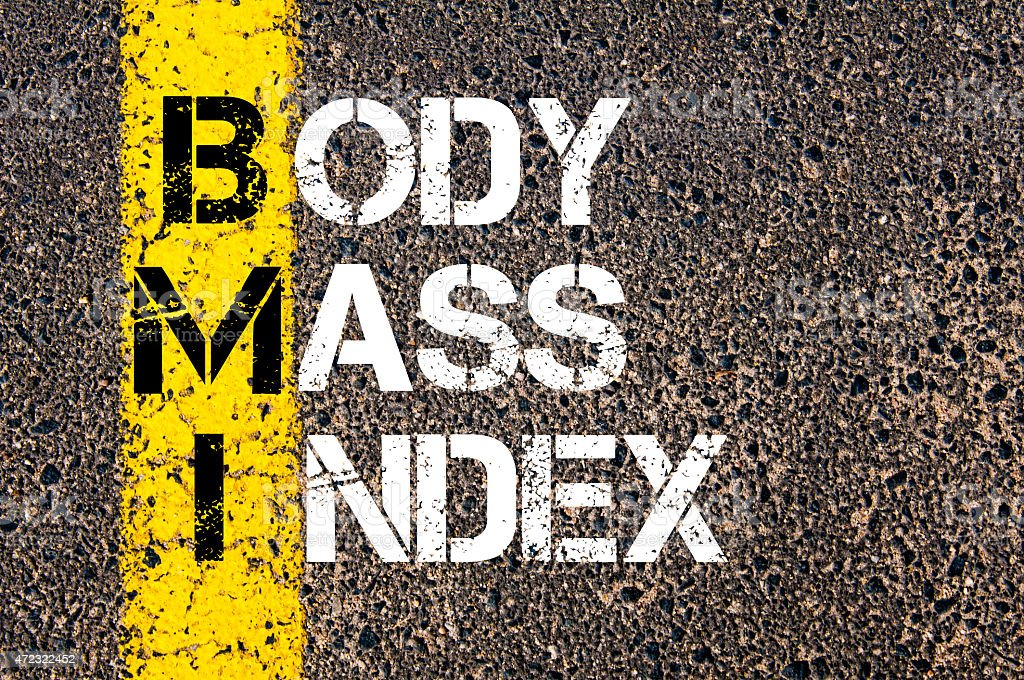 Acronym BMI - Body Mass Index stock photo