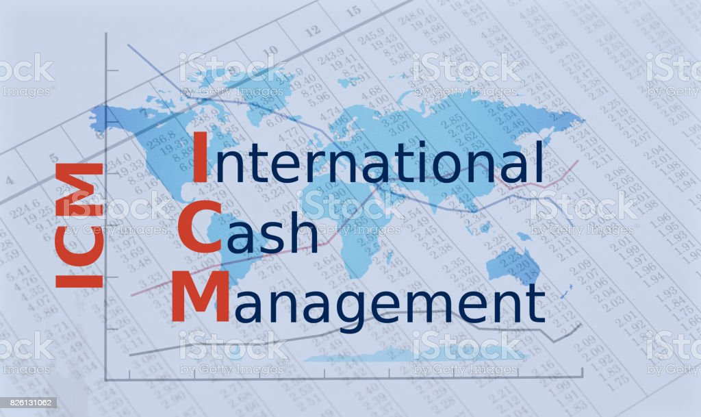 Acronym ICM - International Cah Management stock photo