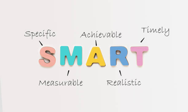 Acronym Of Smart Made Of Words Over White Office Background stock photo