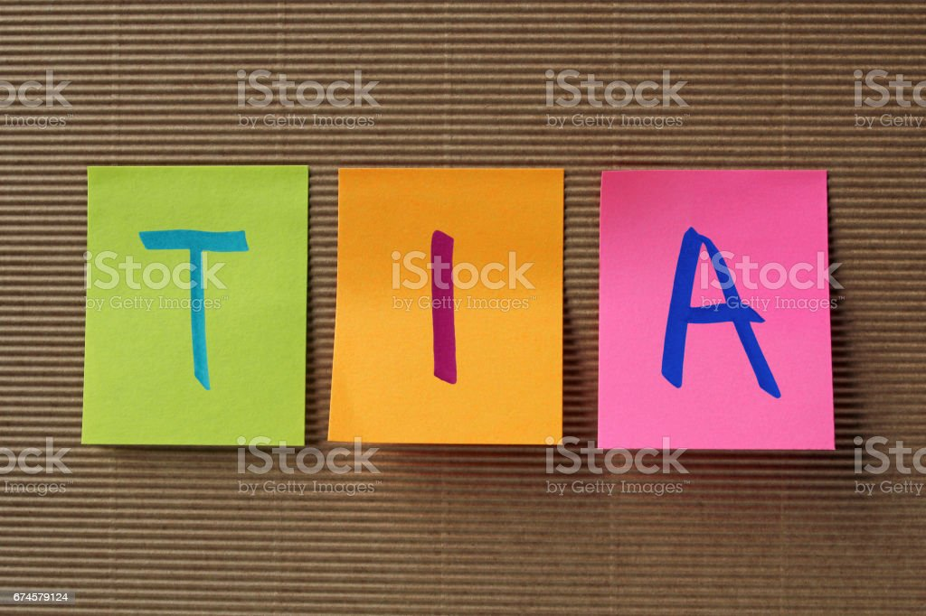 TIA acronym on colorful sticky notes stock photo