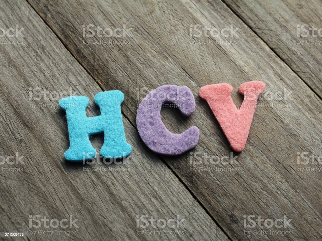 HCV acronym on wooden background stock photo