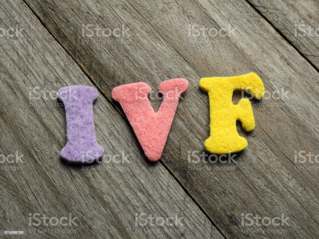 IVF acronym on wooden background stock photo