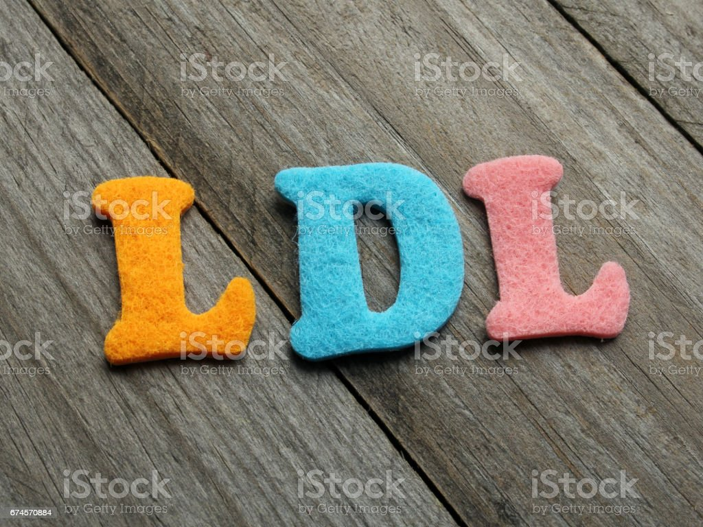 LDL acronym on wooden background stock photo