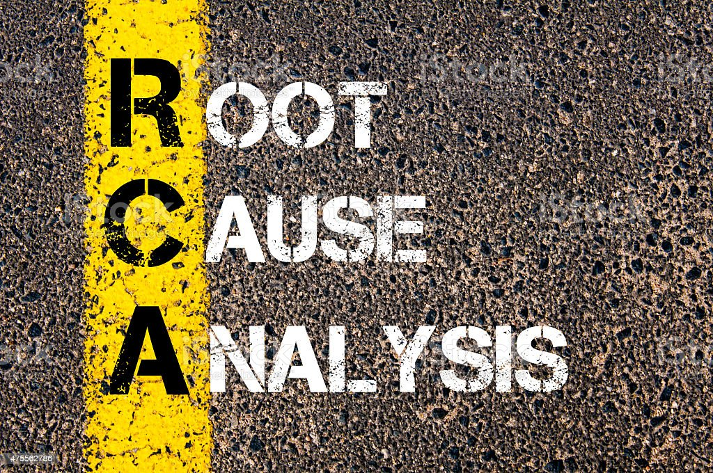 Acronym RCA - Root Cause Analysis stock photo
