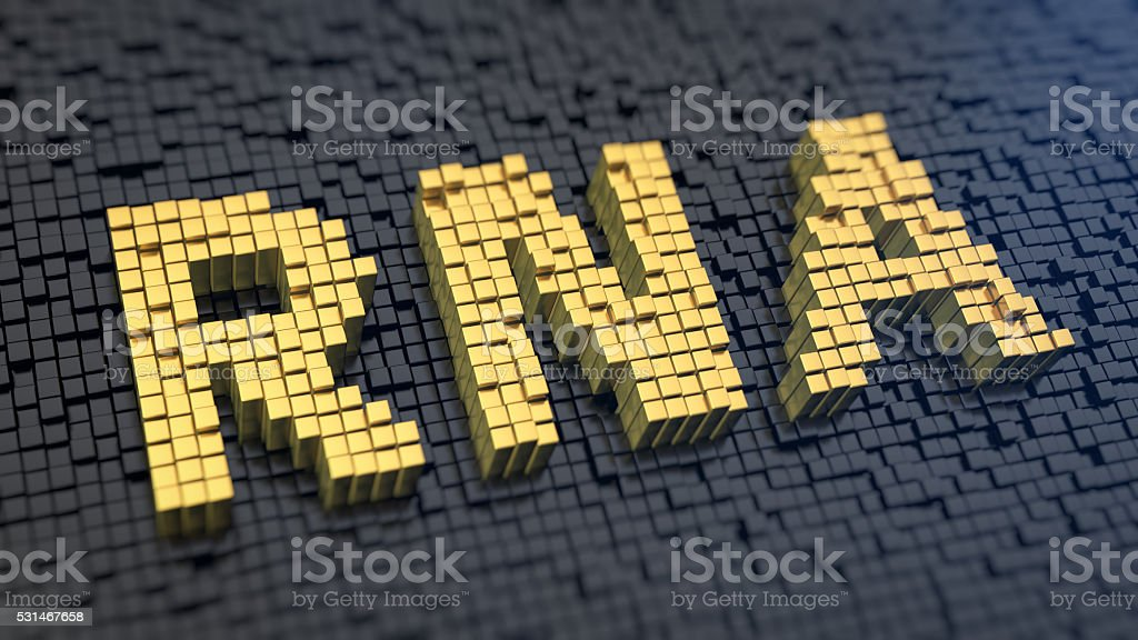 Acronym RNA cubics stock photo