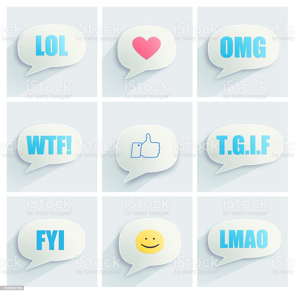 Acronyms for modern communication stock photo