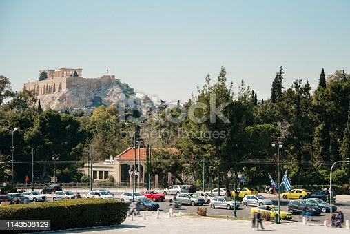 The Acropolis hill in Athens, Greece