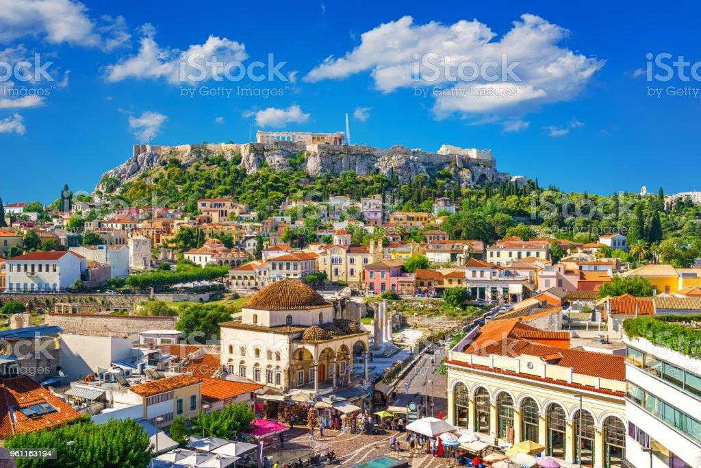 Acropolis in Athens, Greece stock photo