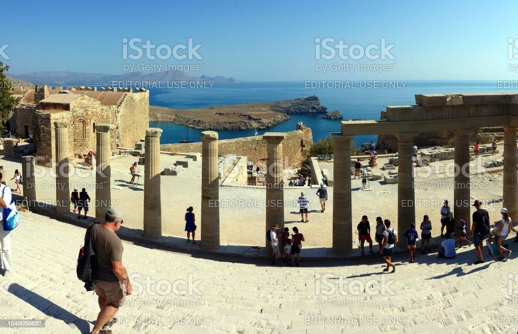 Acropolis in Lindos, Rhodes, Greece – zdjęcie