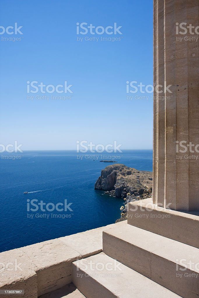 Acropolis in the town of Lindos, Rhodes, Greece. royalty-free stock photo