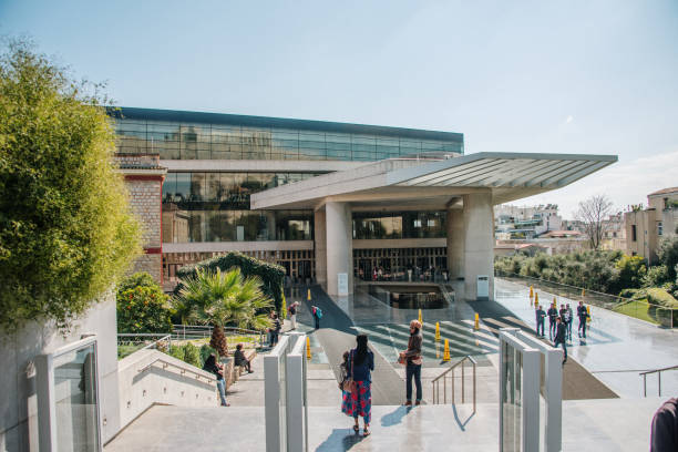 Acropolis Museum in Athens - foto stock