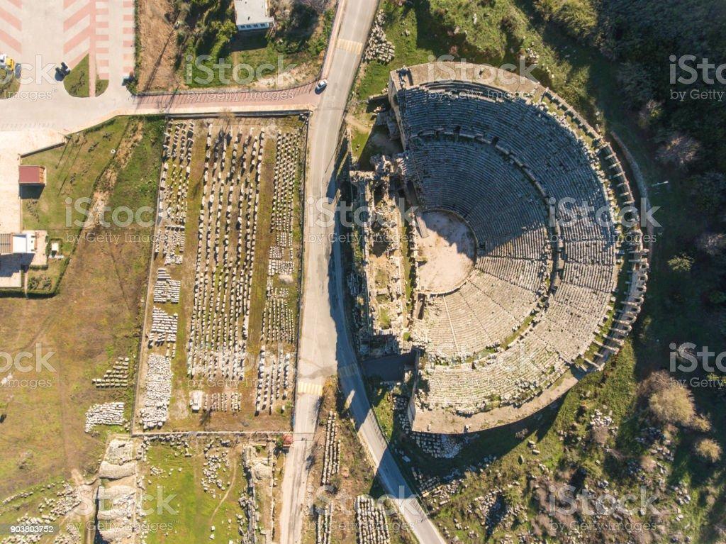 Acropolis of Ancient Mediterranean Civilization in Anatolia stock photo