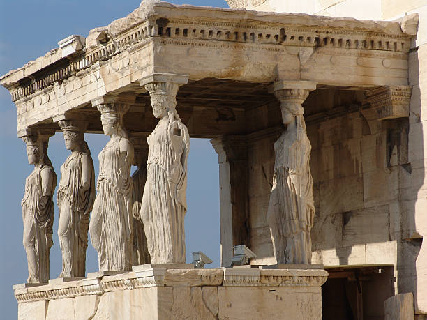 Acropolis of Athen with Parthenon Temple stock photo