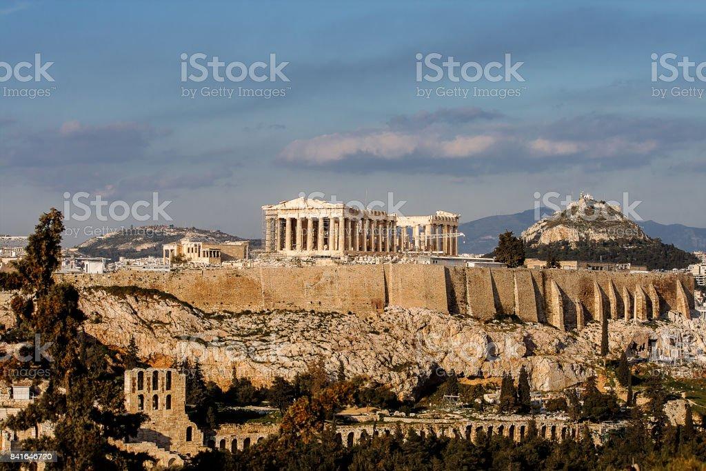 Acropolis of Athens Greece stock photo