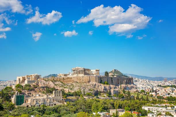 Acropolis of Athens, Greece stock photo