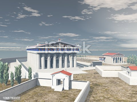 istock Acropolis of Athens in antiquity 1068780022