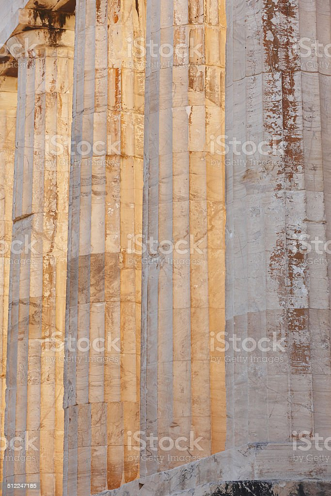 Acropolis of Athens. Parthenon columns. Greece stock photo