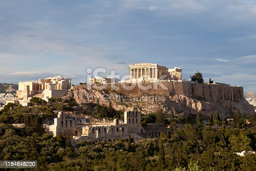 The Acropolis of Athens is an ancient citadel located on a rocky outcrop above the city of Athens and contains the remains of several ancient buildings of great architectural and historic significance, the most famous being the Parthenon.