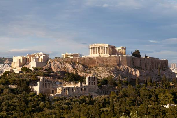 Acropolis of Athens stock photo