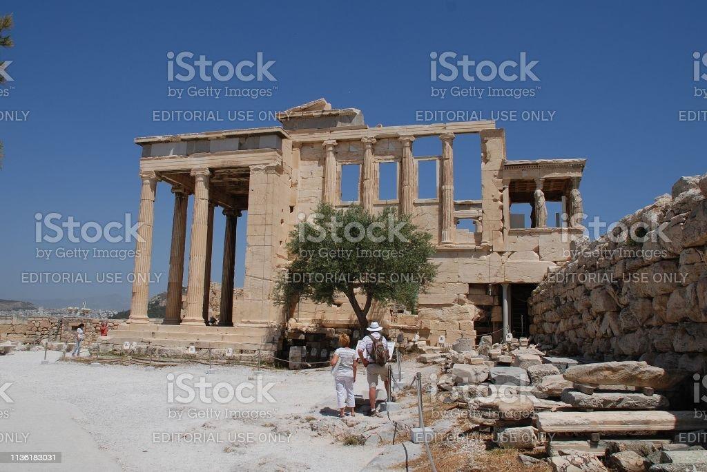 Acropolis of Athens temple stock photo