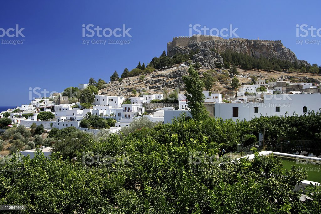 Acropolis Of Lindos royalty-free stock photo