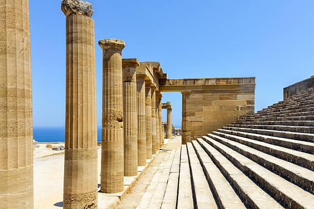 Acropolis of Lindos - Rhodes, Greece stock photo