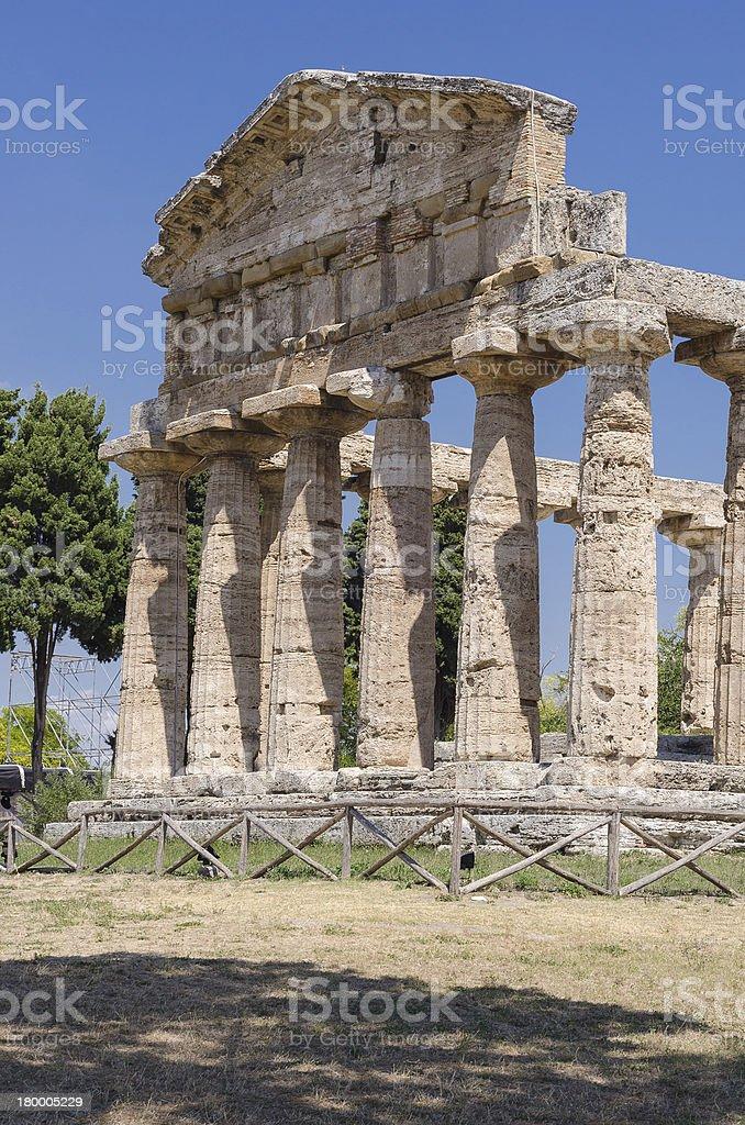 아크로폴리스 of 파에스툼. royalty-free 스톡 사진