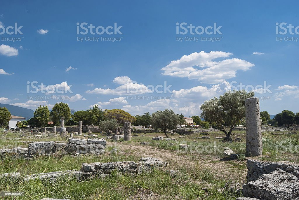 Acropolis of Paestum. royalty-free stock photo