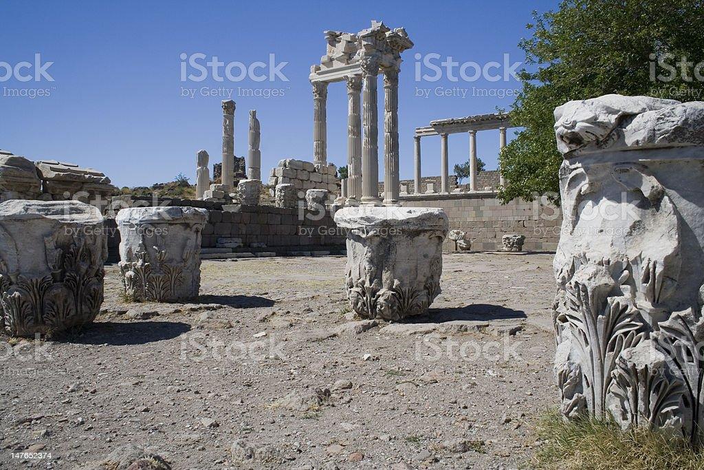 Acropolis Of Pergamon stock photo