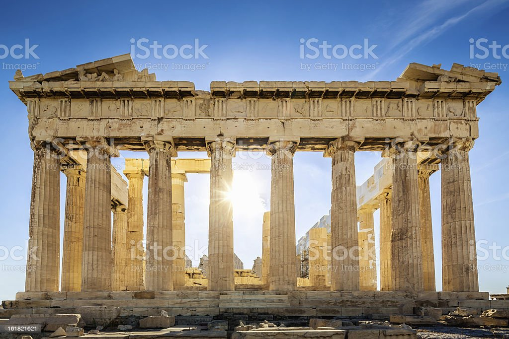 Acropolis Parthenon Temple,Athens,Greece stock photo