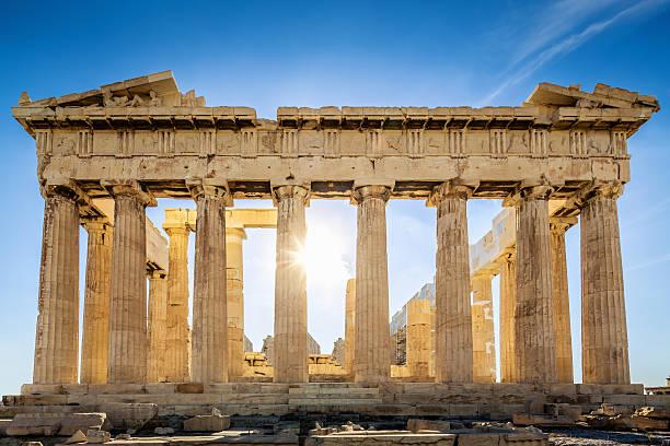 Akropolis und den Parthenon Tempel, Athen, Griechenland – Foto