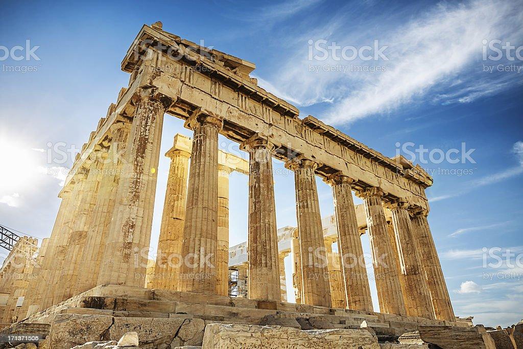 """Acropolis Parthenon,Athens,Greece """"The Parthenon on the Athenian Acropolis in Sunlight. The Temple is dedicated to the Greek Goddess Athena. Athens, Greece."""" Acropolis - Athens Stock Photo"""