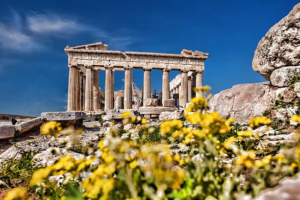Die Akropolis mit dem Parthenon-Tempel in Athen, Griechenland – Foto