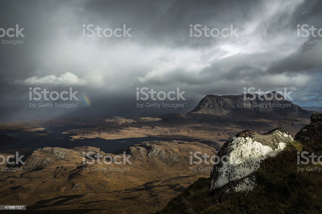 Across Assynt stock photo