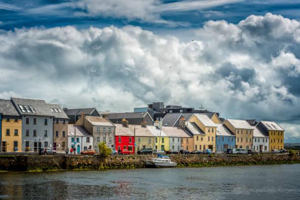 across Galway harbor, Ireland stock photo