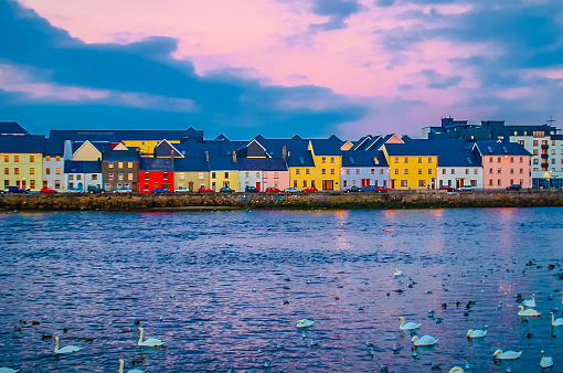 Across Galway Harbour Ireland Stock Photo - Download Image Now