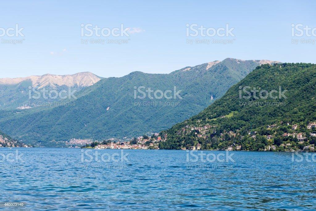 Across Lake Como towards the Dolomites royalty-free stock photo