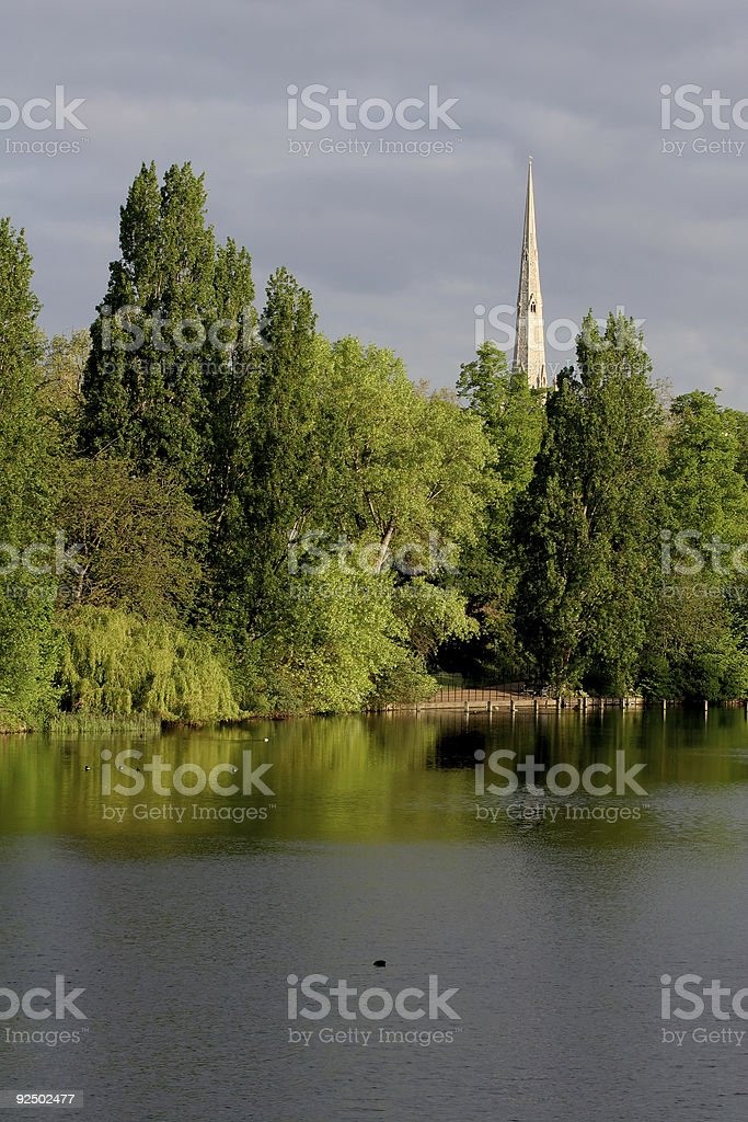 Across the Serpentine, Hyde Park royalty-free stock photo