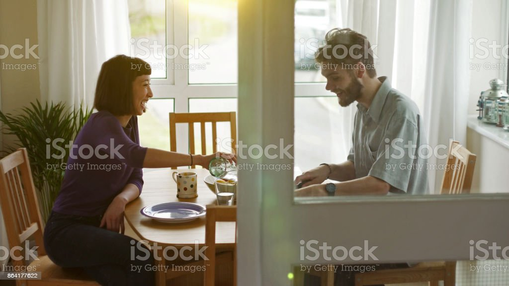 Across the table royalty-free stock photo