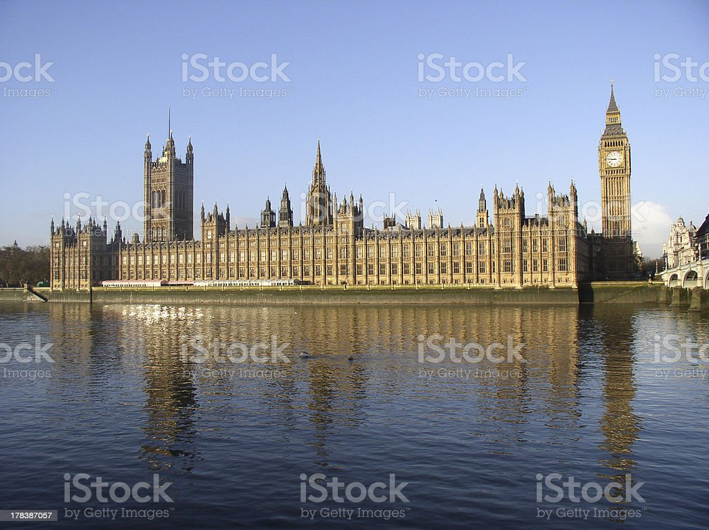 Across the Thames - Houses of Parliament royalty-free stock photo