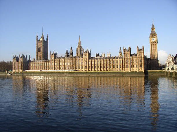 Across the Thames - Houses of Parliament stock photo