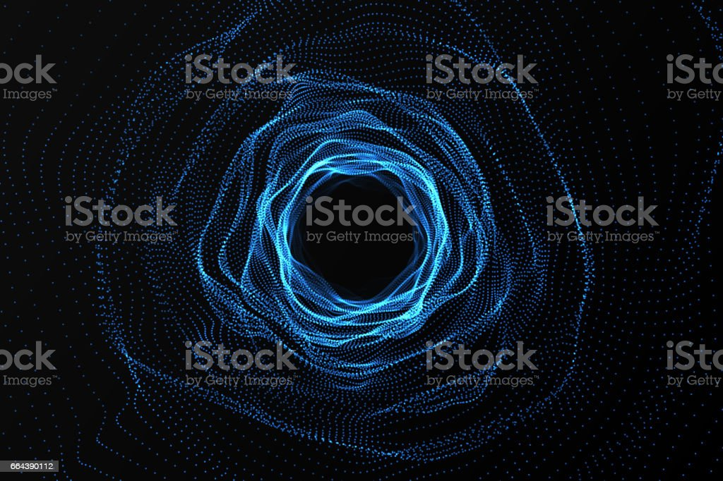 Across the universe. Traveling in space. Time travel. Scene of overcoming the temporary space in cosmos. 3d rendering stock photo