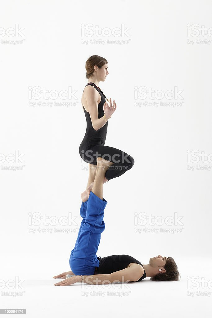 Acro-yoga-position – Foto