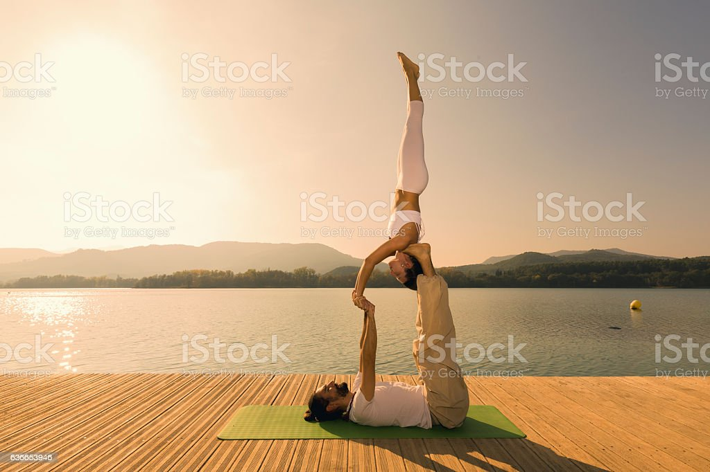 Acroyoga star pose - Photo