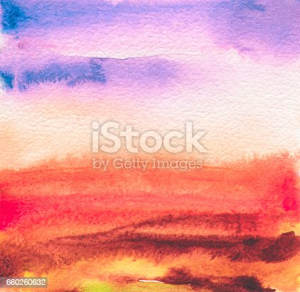 649796262 istock photo Acrylic and watercolor painted frame. Texture paper background. Abstract landscape. 660260632