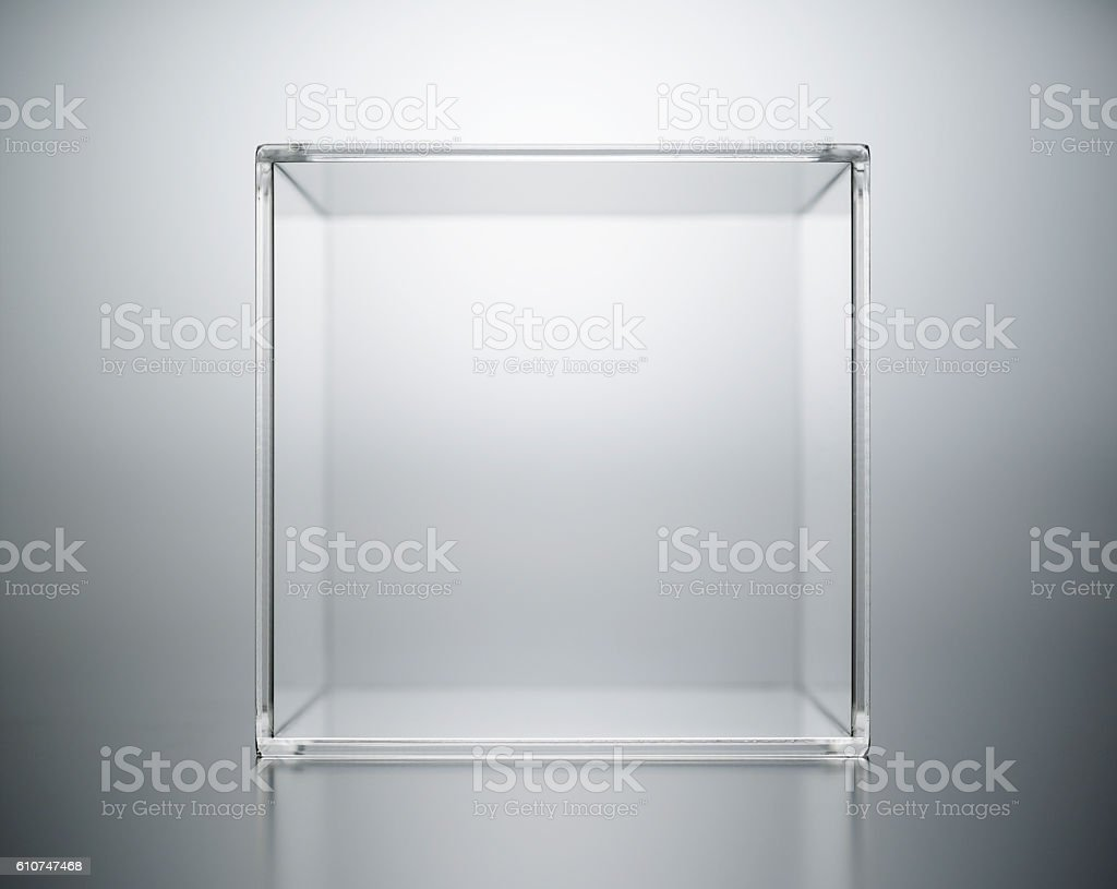 acrylic box abstract. stock photo
