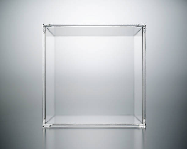 acrylic box abstract. - cube shape stock pictures, royalty-free photos & images