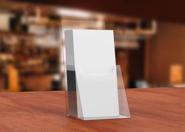 Acrylic Brochure Holder stock photo