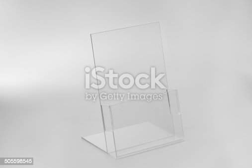 istock Acrylic card holder for events. 505598545