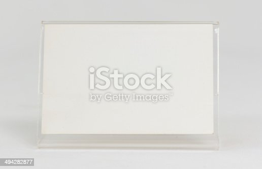istock Acrylic card holder 494282877